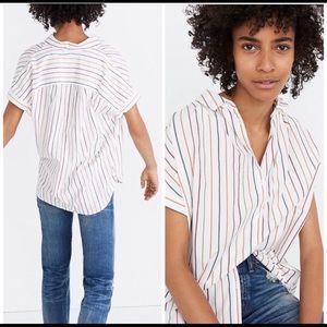 MADEWELL rainbow stripe courier shirt